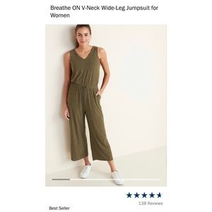 BREATH ON - old navy XXL TALL JUMPSUIT • olive